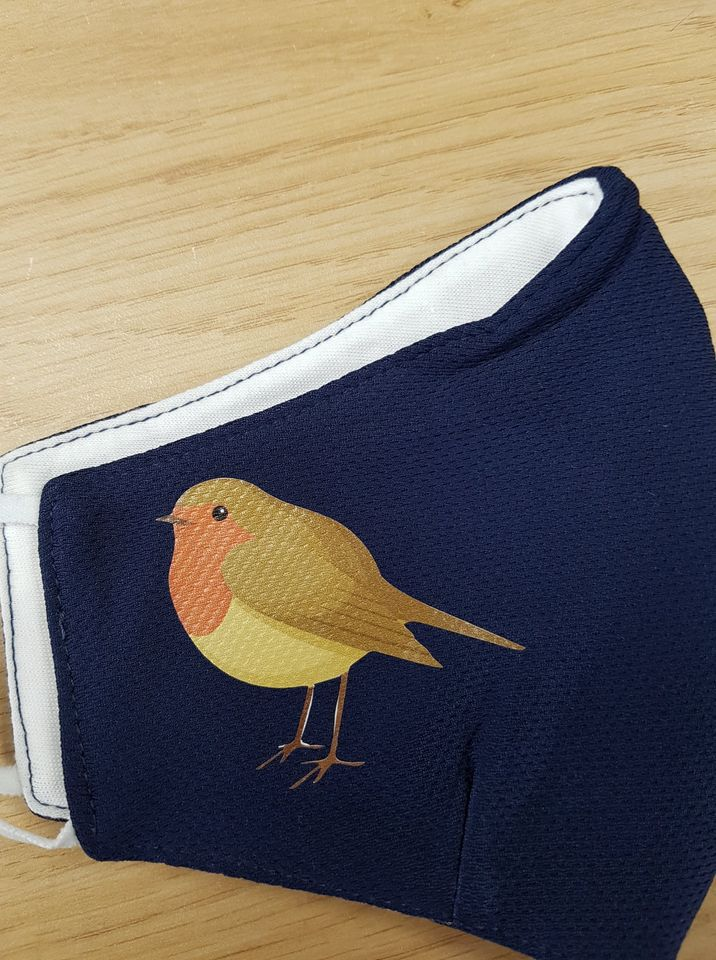 Bedrukte mondkapjes vogel